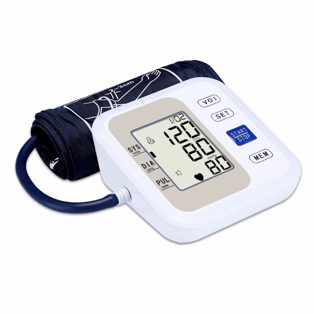 цены Automatic Arm Style Electronic LCD Display Blood Pressure Monitor Voice Heart Beat Meter Household Sphygmomanometer new