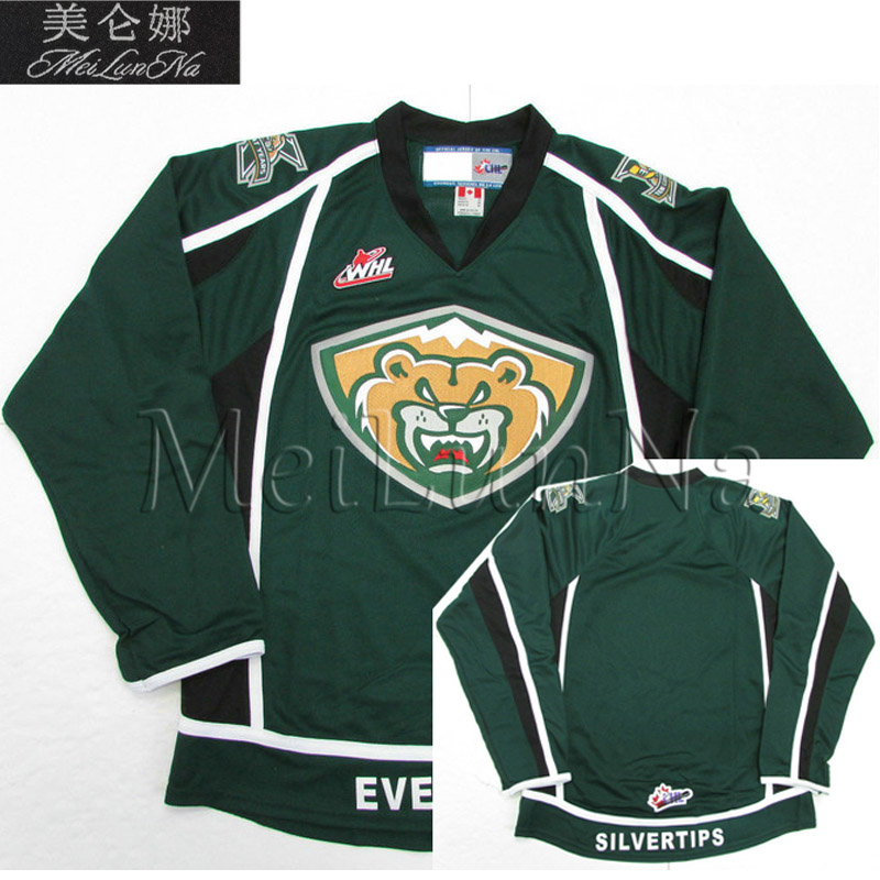 MeiLunNa Customize WHL Everett Silvertips Jerseys Patrick Bajkov 70 Carter Hart 2 Ryan Murray Home Road Sewn On Any Name NO. hart j redemption road