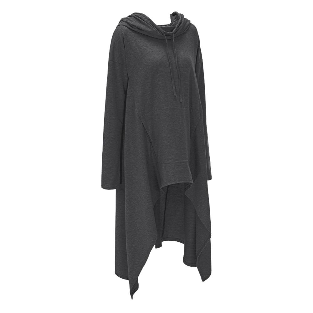 Preself Oversize Sweter Z Kapturem Bluza Kobiety Hoody Blaty Kobiet Luźna Z Długim Rękawem Płaszcz Z Kapturem Na Co Dzień Znosić Pokrywa Swetry Ubrania 14