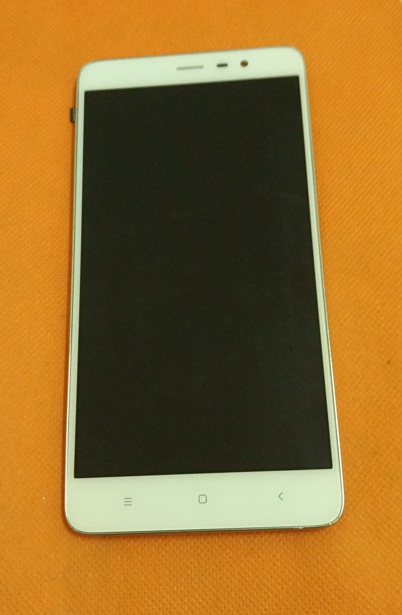 Used Original LCD Display + Touch Screen + Frame for Xiaomi Redmi note 3 note3 MTK Helio X10 Octa Core 5.5'' FHD Free shipping