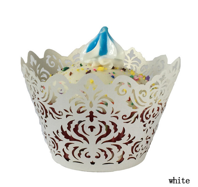 creative vine Lace Laser Cut Cupcake cake Wrapper Liner Baking Cup paper  for wedding birthday tea party decoration Wholesale-in Cake Decorating ...