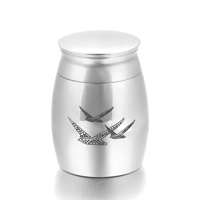 Silver Birds Memorial Urn