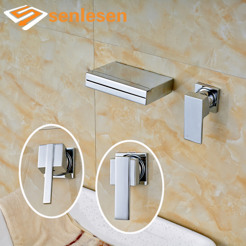 Wholesale and Retail Bathroom Basin Wall Mounted Chrome Finish Mixer Faucet wholesale and retail chrome finish bathroom wall mounted basin sink countertop faucet