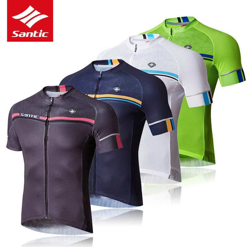 Santic 2018 Men Cycling Jersey Quick Dry 4 Colors MTB Road Bike Short Sleeve Jersey Summer Outdoor Sport Bicycle Riding Clothing donen women s cycling jersey clothing outdoor sport bike cloth bicycle jacket short sleeve jersey breathable perspiration