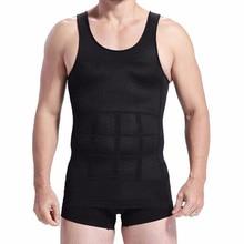 Men Slimming Body Shaper Tummy Vest Underwear Waist Girdle Shirt Posture Corrector Fat Burning