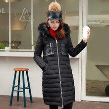 2016 зима Тонгук дверь все твердые толстые меховой воротник пальто пуховик крупные оптовые Корейских женщин