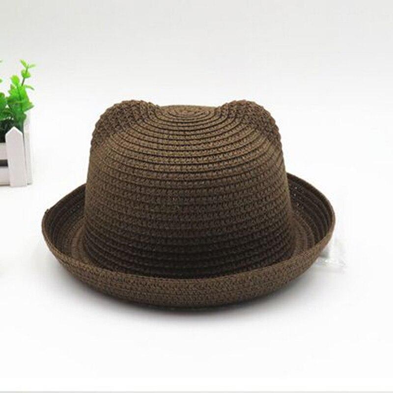 Venta como las tortas calientes 2016 nueva moda de verano para adultos Sombreros  para mujeres y hombres paja orejas de gato CAPS multicolor wholesale 5e1666b1faf