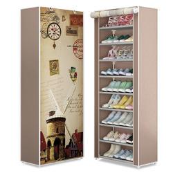 Простой многослойный обувной стеллаж Ткань Оксфорд оцинкованная трубка собранный шкаф для хранения для домашней мебели Прихожая обувной