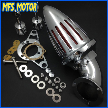 For  Softail Fat Boy Dyna Street Bob Wide Glide Chrome Air Cleaner kits Motorcycle Part