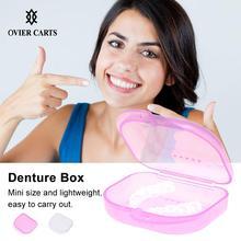 Протез коробка для ванной случай стоматологические Ложные зубы прибор ящики для хранения контейнеров с вентиляционными отверстиями