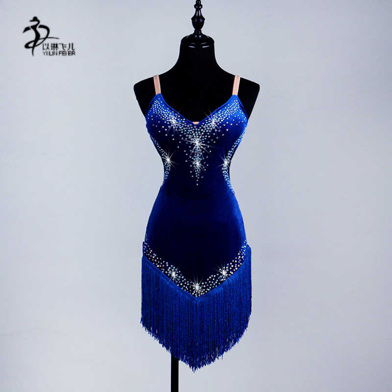 75f5e6494d21 Detail Feedback Questions about Ballroom Dance Competition Dresses/Women  Ballroom Latin Rhythm Rumba Cha Salsa Dance Dress Black Fringe on  Aliexpress.com ...