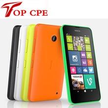 Разблокирована dual sim мобильный телефон оригинальный nokia lumia 630 windows phone 8.1 snapdragon 400 quad core 4.5 «экран 3 Г мобильный телефон