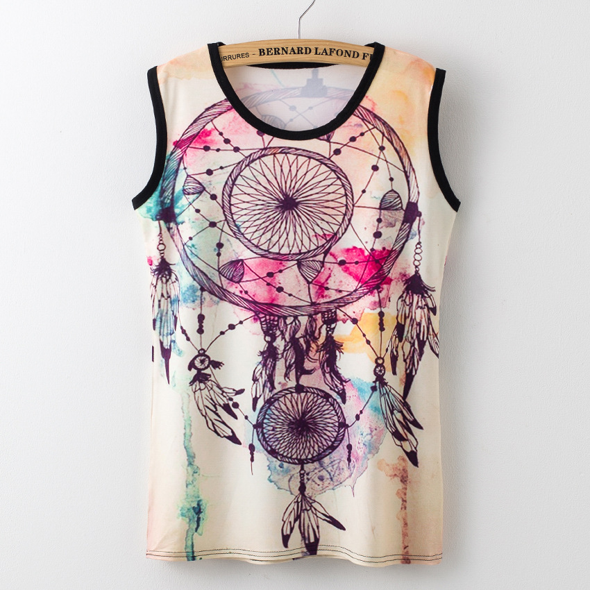 2017 Summer T Shirt Women Tank Top Sexy Sleeveless Printing Shirt Casual Off Shoulder Street Fashion Female Party Tops