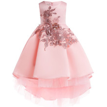 Flower girl clothes Sequin Silk Princess Dress for Wedding party Kids Dresses for Toddler Girl Children Christmas Clothing