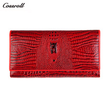 hot deal buy women's purses famous brand 2017 money wallets alligator patent genuine leather ladies leather wallets vintage style money bags