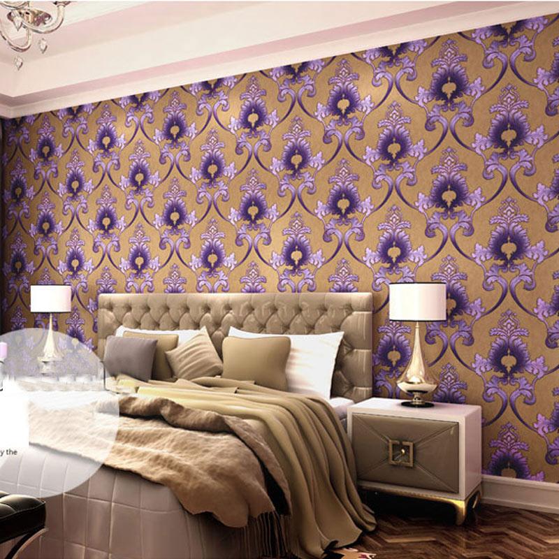 slaapkamer behang paars ~ lactate for ., Deco ideeën