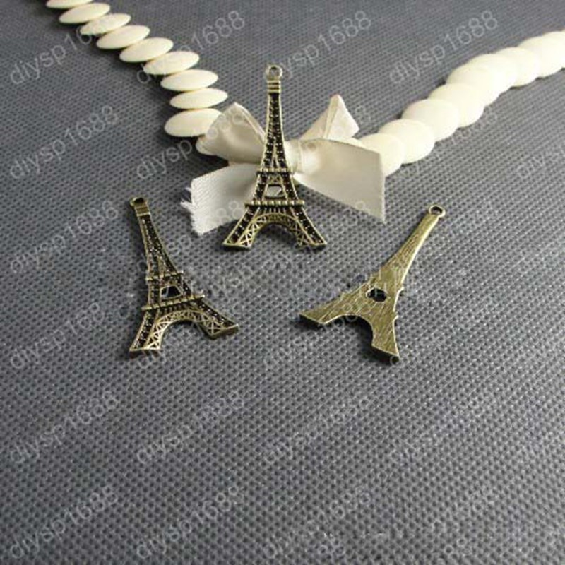 New 53*27mm 20pcs Home Decoration Eiffel Tower Metallic Model Bronze Iron Romantic House Office Decoration 011005020
