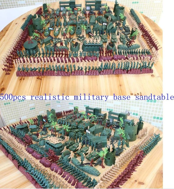 creative brand new realistic military base sand table toys children