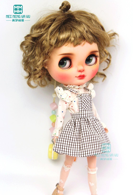 1PCS Blyth Clothes Fashion Coffee Strap Dress, T-shirt For Blyth Azone 1/6 Doll Accessories