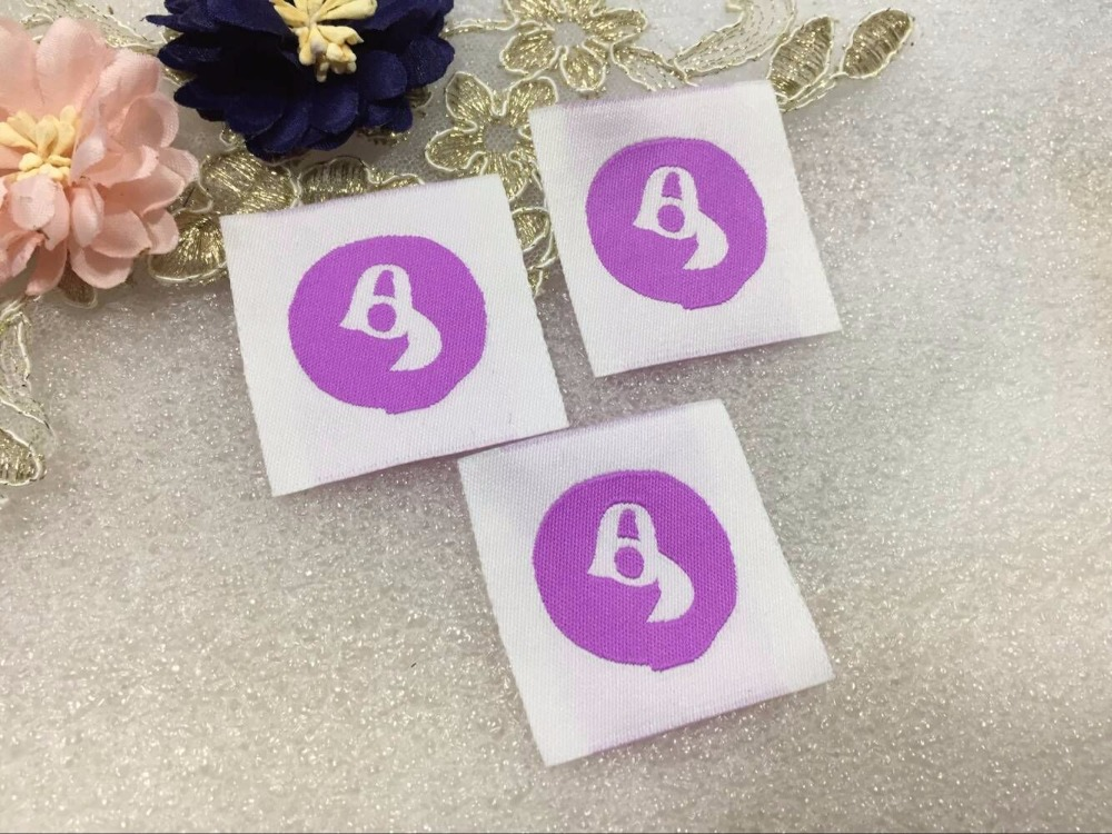 Free shipping Customized garment clothing tags /Woven Labels/ custom clothing labels/main labels/damask label-in Garment Labels from Home & Garden    1