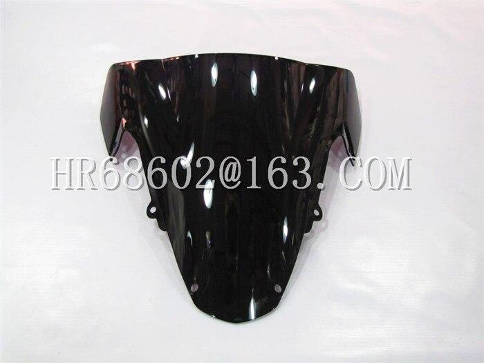 Black Double Bubble Windshield Windscreen for GSXR1000 GSXR 1000 K3 2003-2004
