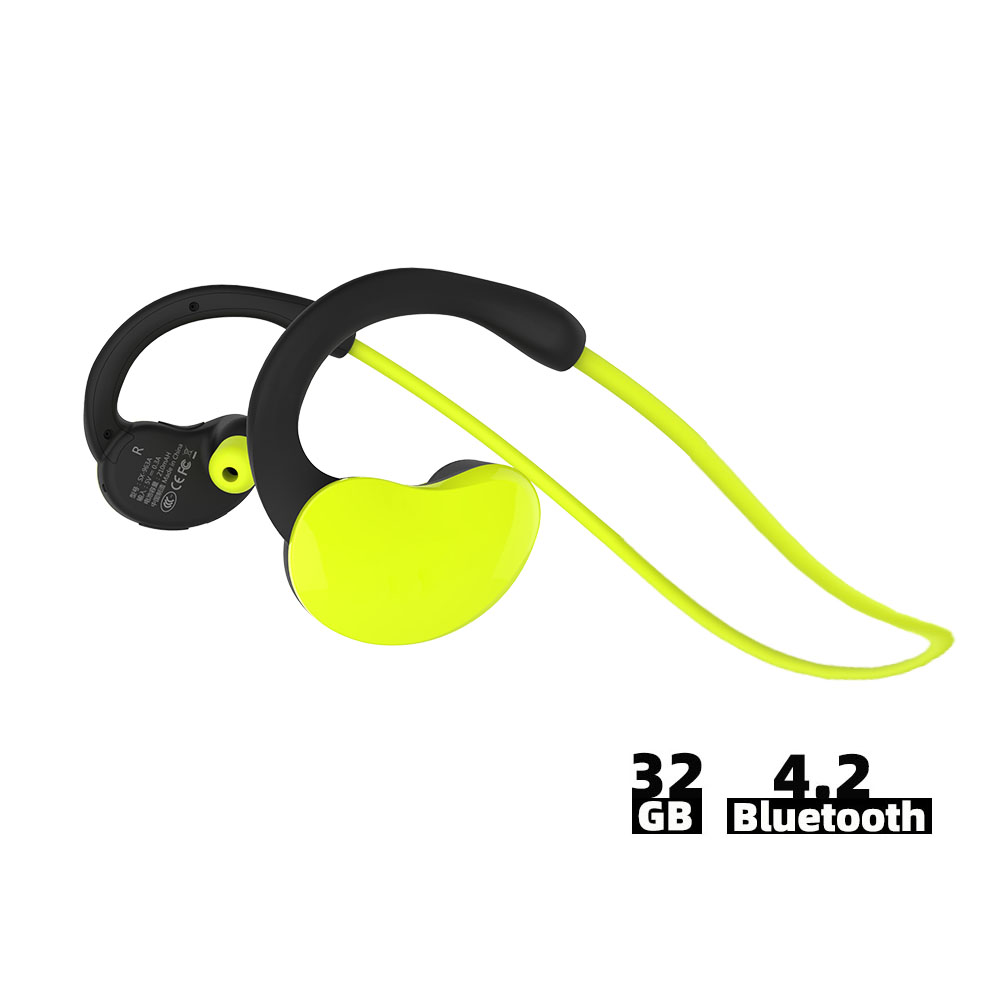 Ralyin IPX6 32GB Fones de Ouvido Sem Fio Bluetooth Fones De Ouvido À Prova D' Água Esporte sem fio Fones De Ouvido com Microfone Fones de ouvido Estéreo HD Ginásio