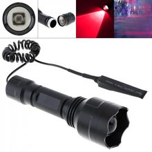 LED Flashlight C8 850nm IR 38mm Lens Zoomable Infrared Light Night Vision Flashlight Torch with Remote for Camera  Night Vision