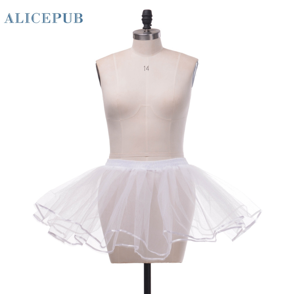 Short wedding sexy sweet tulle short petticoat mini skirts for Tulle petticoat for wedding dress