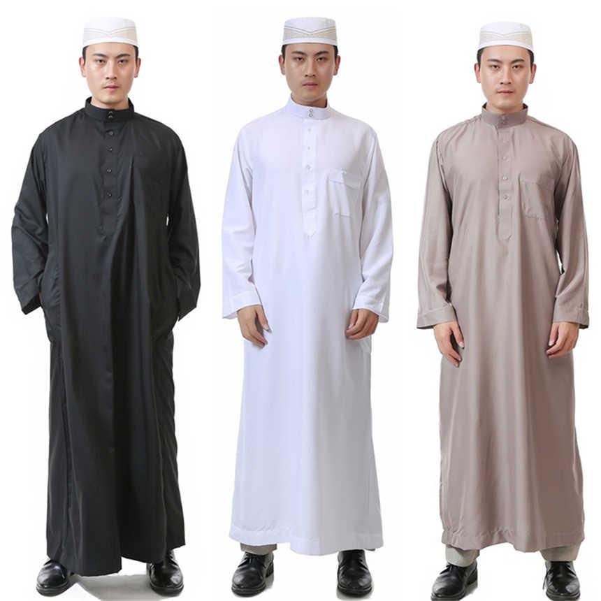 6Color Men Arabic Islamic Clothing Saudi Arabia Pakistan Dubai Arab Abaya Muslim  Dress Muslim Traditional Robes c234cb294