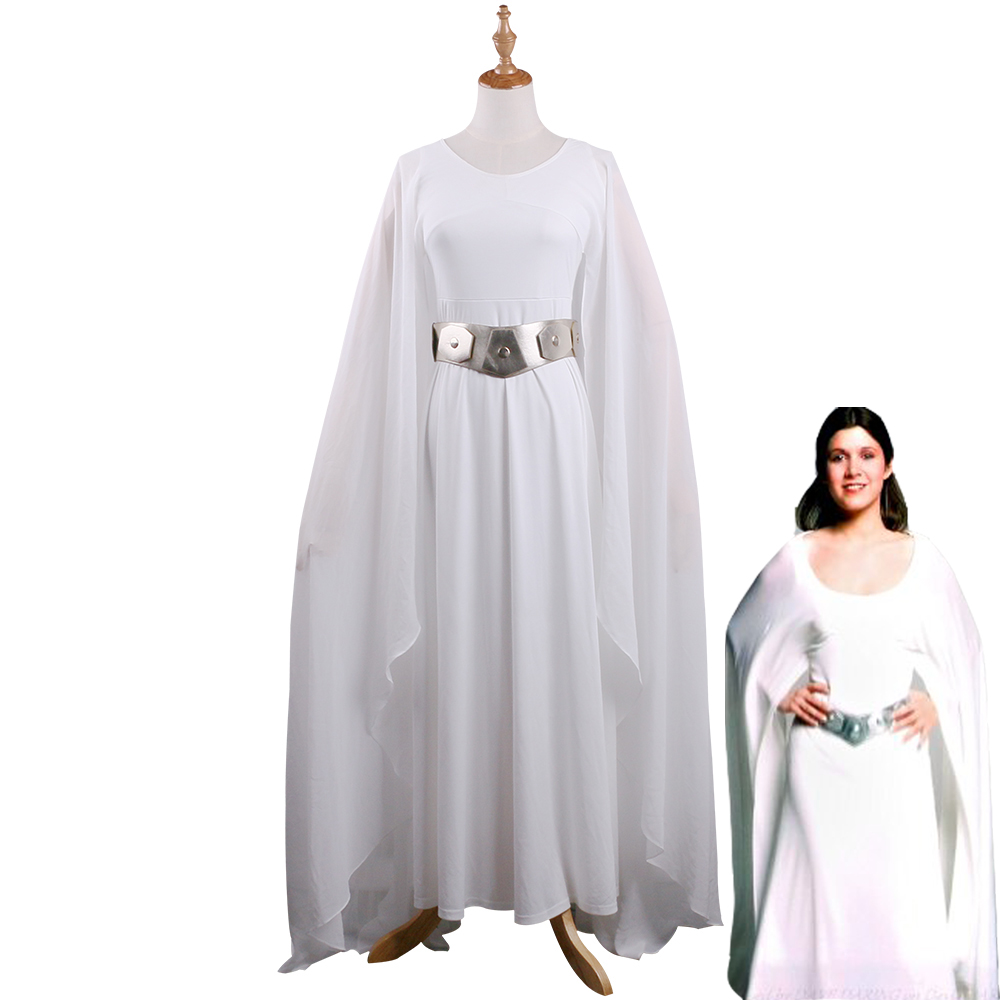 Princess Leia Costume Leia Dress White Adult Star Wars The -5043