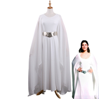 Princess Leia Costume Leia Dress White Adult Star Wars the Last Jedi Costume Dressed Halloween Fancy Dress Costume Cosplay New