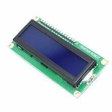 500 adet TENSTAR ROBOT LCD 1602 LCD1602 5V 16x2 karakter LCD ekran modülü denetleyici mavi blacklight stokta