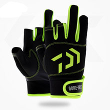 Daiwa Fishing Gloves 1Pair 3 Finger Cut Breathable Anti-Slip Pesca Fitness Carp Fishing Accessories Spring Outdoor Fishing Glove