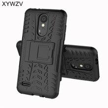 La sFor Coque LG K8 2018 caso a prueba de golpes a prueba dura de la PC de la caja del teléfono de silicona para LG K8 2018 cubierta para LG K 8 2018 funda de teléfono 5,0 pulgadas