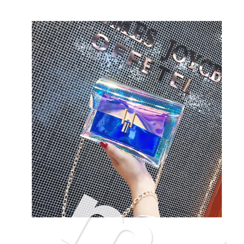 JIAOO Laser Transparent Bags Fashion Women Crossbody Bags for Women Korean Style Shoulder Bag Messenger PVC Waterproof Beach Bag 11
