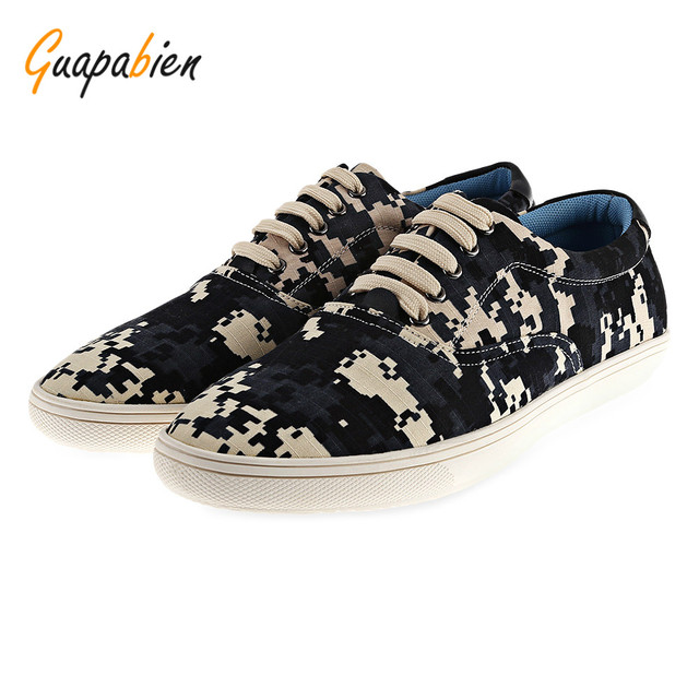 319ba58a32823 Guapabien Camo Pixel Print Lace Up Casual Shoes ODM Designer-in ...