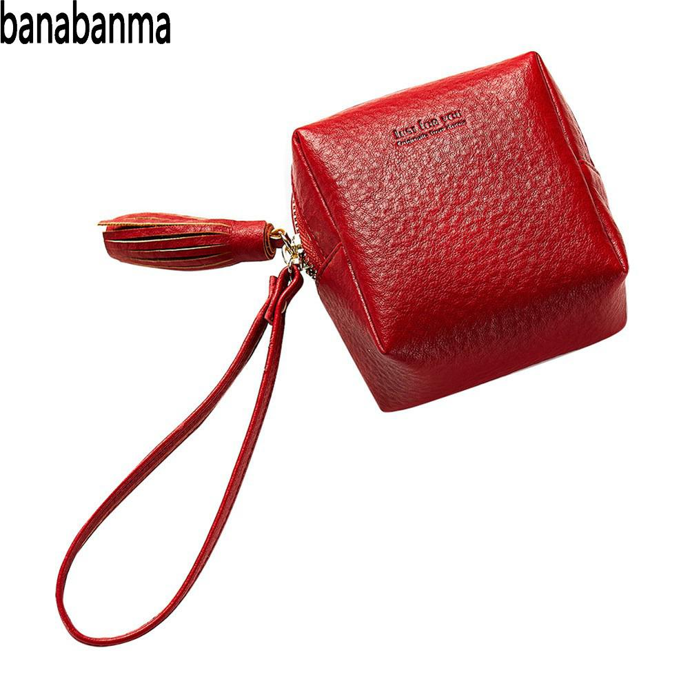 banabanma Cute Wallets Girl Student Purse Steamed Buns Shape Wallet PU Leather Coin Purse Mini Tassels Pockets Small Bag ZK40