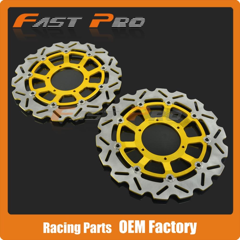 1 Pair Front Brake Disc Rotor For Honda CBR600RR 03-14 CBR1000RR 04-05 CB1000R 08-14 CB1300 05-11 CB1300SF 03-09 CB1284 03-08