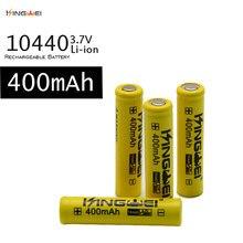 KingWei Amarelo 10440 400 mAh Da Bateria 3.7 v Li-ion Recarregável Cabeça Pontiaguda Bateria Para Lanterna