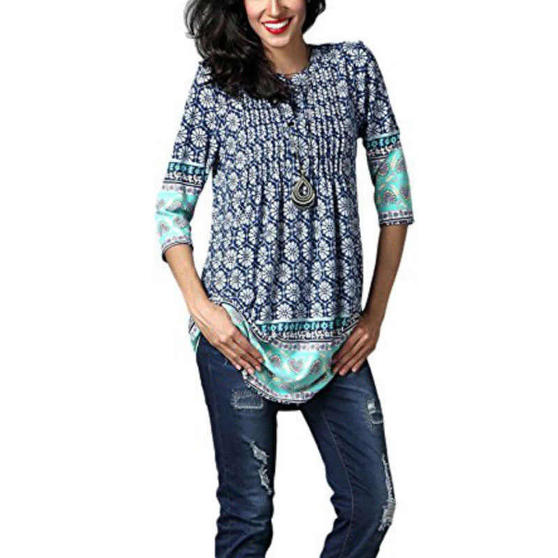 Sexy V-Neck Summer Victorian Blouses Women Tunic Tops Elegant Shirt Floral Print Blouses Shirts Long Sleeve Vintage Boho Tops