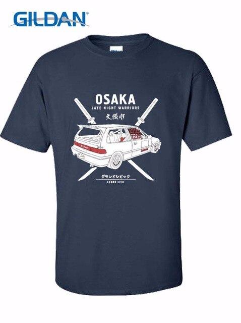 Lo más nuevo 2019 hombres moda 100% algodón estampado camiseta hombres verano estilo Kanjo Tokyo Jdm Civic Ef9 Venta caliente camisetas