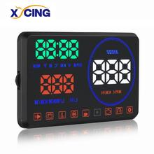 XYCING M9 5.5 inch Head Up Display Windshield Projector OBD2 Car HUD Digital Meter with Reflection Display Board autool x30 hud obd 2 head up display car gps speedometer headup obd2 projector headup smart digital auto universal display meter