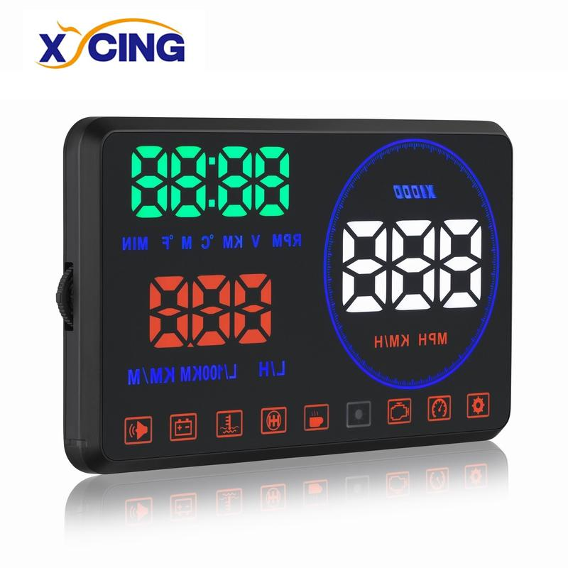 XYCING M9 5.5 inch Head Up Display Windshield Projector OBD2 Car HUD Digital Meter with Reflection Display Board
