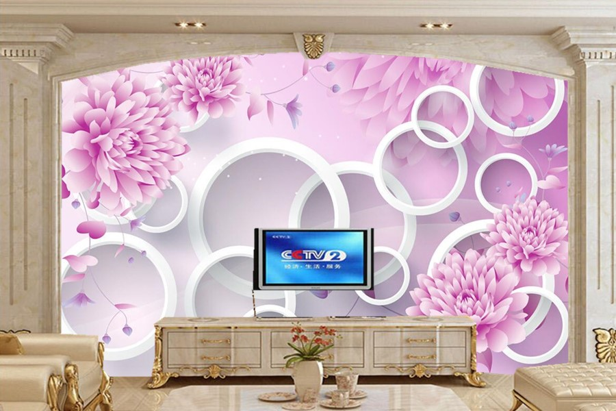3D mural papel de parede,Purple romantic flower mural,restaurant living room study sofa TV wall bedroom 3d purple wallpaper 3d mural papel de parede purple romantic flower mural restaurant living room study sofa tv wall bedroom 3d purple wallpaper