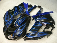 Plastic Fairings for Kawasaki Zx14r 2009 Fairing ZZR 1400 2010 2006 - 2011 Black Blue Flame Fairings ZZR 1400 2010