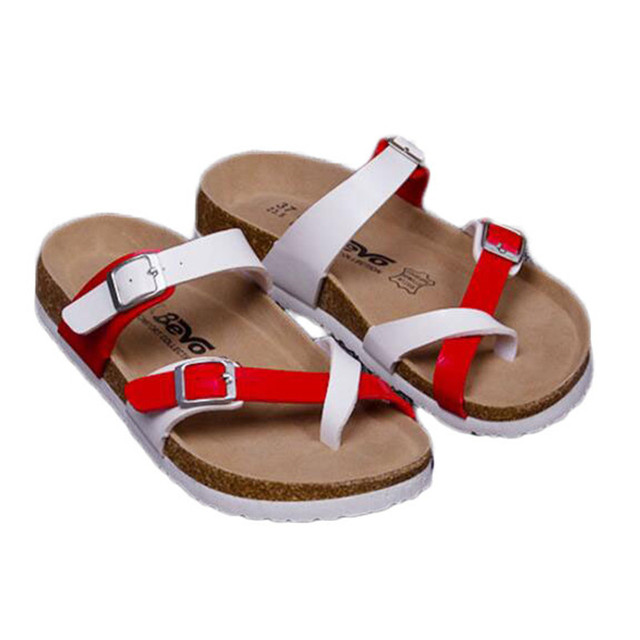 Fashion New Summer Cork Women Sandals Casual Mixed Color Flip Flops Valentine Shoes Zapatos Mujer Sandalias Plus Size 35-42
