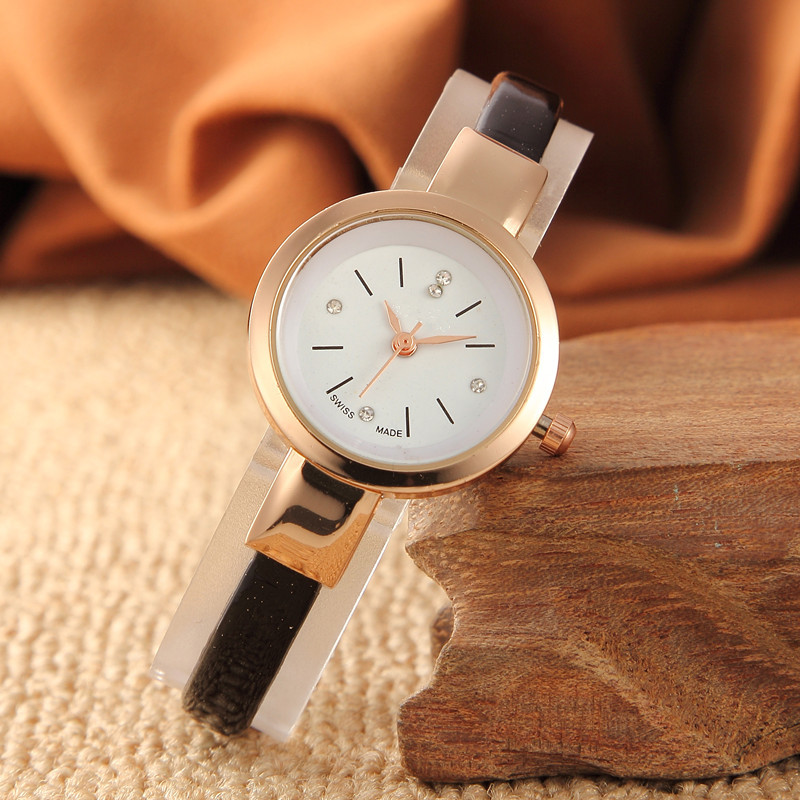 Fashion Small Dial Fine Watch Band New Temperament Student Girl Epidermis With Watch Gift Table