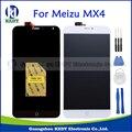 Оригинал Для MEIZU MX4 ЖК-Дисплей + Сенсорный Экран Черный Белый 5.36 дюймов Дисплей Замена Digitizer Ассамблея Части + Инструменты