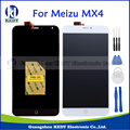 Original para meizu mx4 pantalla lcd táctil + digitalizador asamblea reemplazo de la exhibición de pantalla negro blanco 5.36 pulgadas de piezas + herramientas