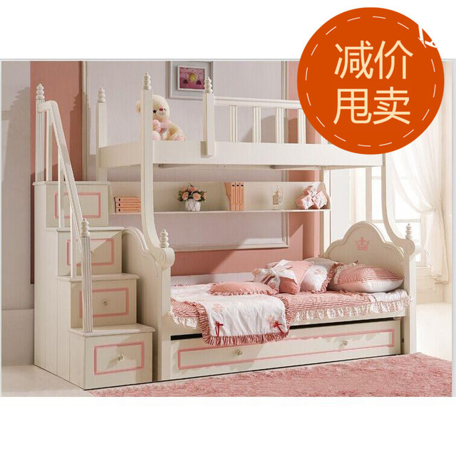 Children 12 European Furniture Combinations Up And Down Picture Girl Princess Bed Bunk